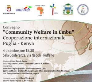 Convegno Community Welfare in Embu – 4 Dicembre h 18.30