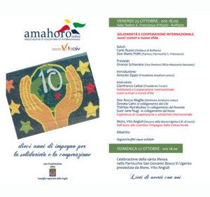 Amahoro Onlus, 10 anni di impegno per solidarietà e la cooperazione